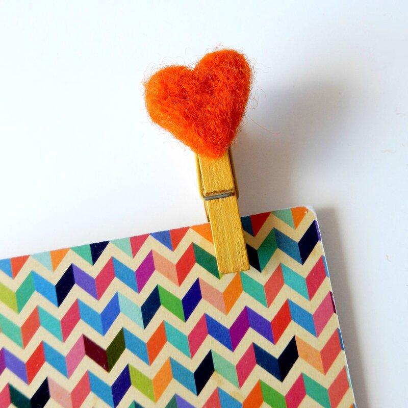 coeur laine feutrée - Anisbee