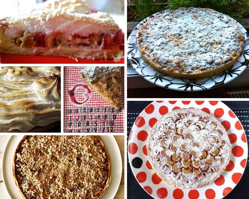 tartes à la rhubarbe