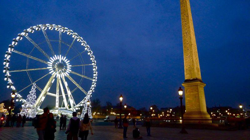 La grande roue place de la Concorde.