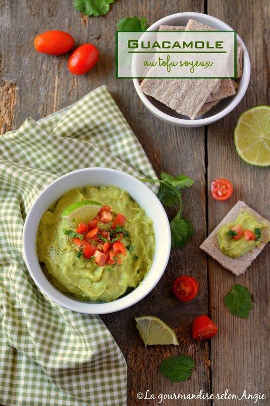 guacamole allegé au tofu soyeux vegan