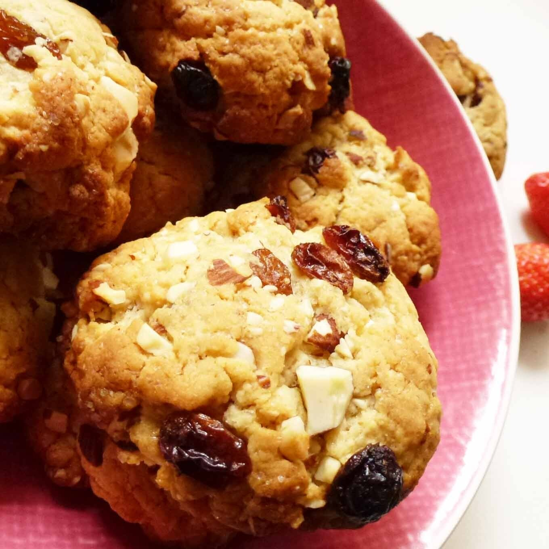cookies raisins - amandes