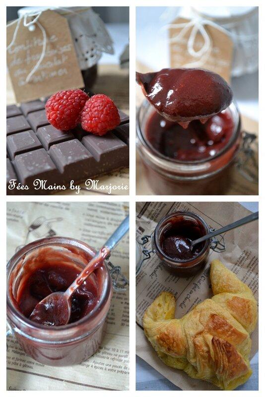 Confiture de framboises au chocolat1