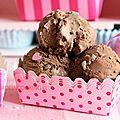 Frozen yogurt au chocolat et aux pépites de chocolat