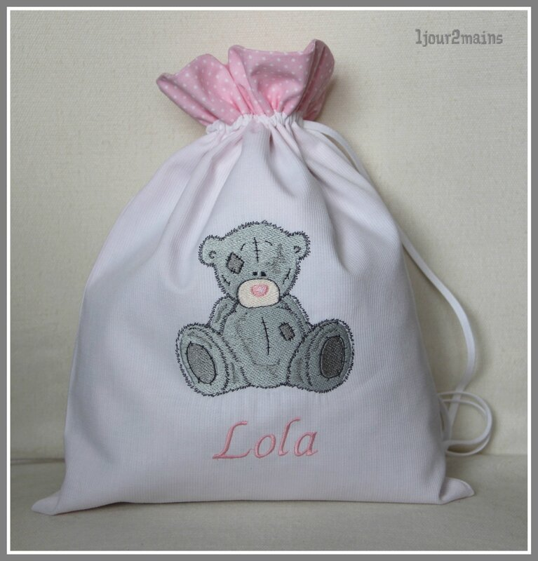 sac ours gris Lola
