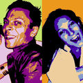 Portrait pop'art duo, nuanciers AB