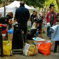 Brocante sur la rue Caulaincourt.