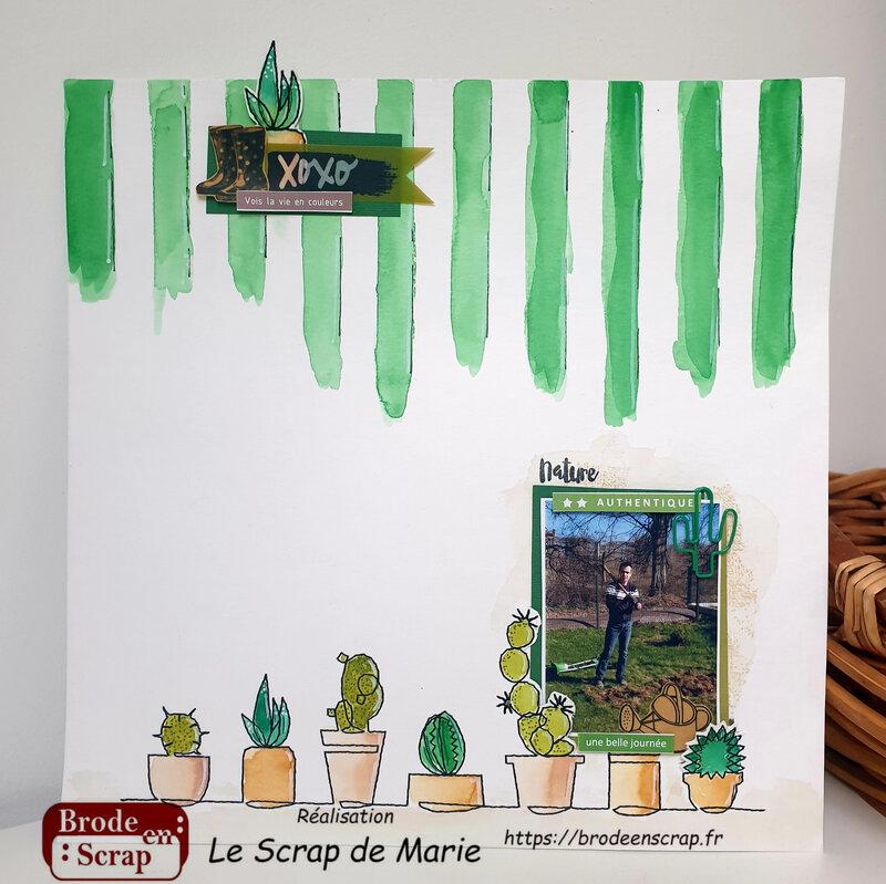 Page Cactus par Le Scrap de Marie