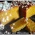 Cake d'hiver aux clémentines