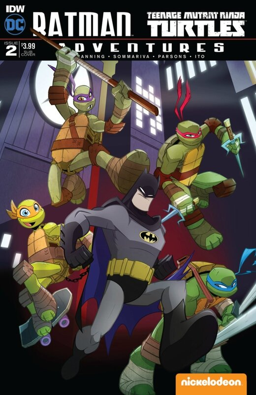 IDW batman TMNT adventures 02 martin sub cover