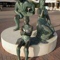 Moraira, sculpture hommage aux pêcheurs (Espagne)
