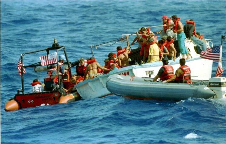 Balseros, réfugiés cubains voguant vers la Floride