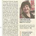 Article exposition Marie Tsaniras