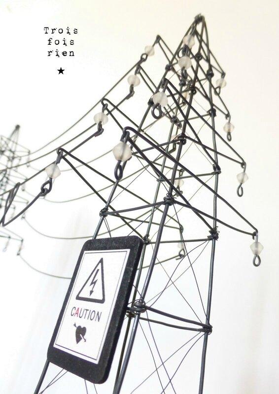 hight voltage of love, trois fois rien, fil de fer, wire, scénette, pylône (2)