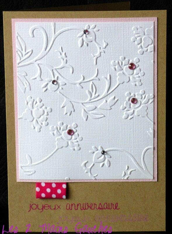 carte d'anniversaire fleurie féminine