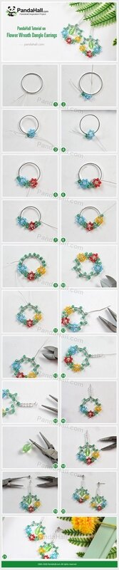 PandaHall-Tutorial-on-Flower-Wreath-Dangle-Earrings