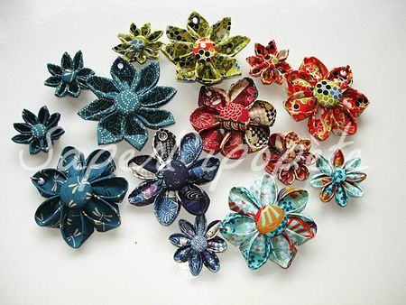 fleurs kanzashi tissus japonais