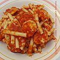 Mises a l'honneur n ° 26 : spaghettis aux minis boulettes sauce tomates