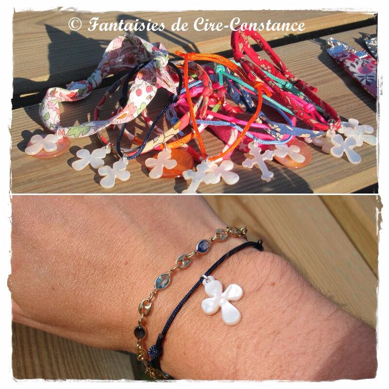 Bracelets croix arrondie et tréflées