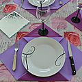 Déco de table - sets de table en papier