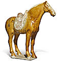 A sancai-glazed figure of a horse, tang dynasty (618-907)