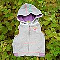 Gilet bubble gum,1 an