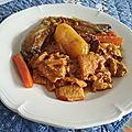 Tripes et pied de veau au curry et aux endives épicées