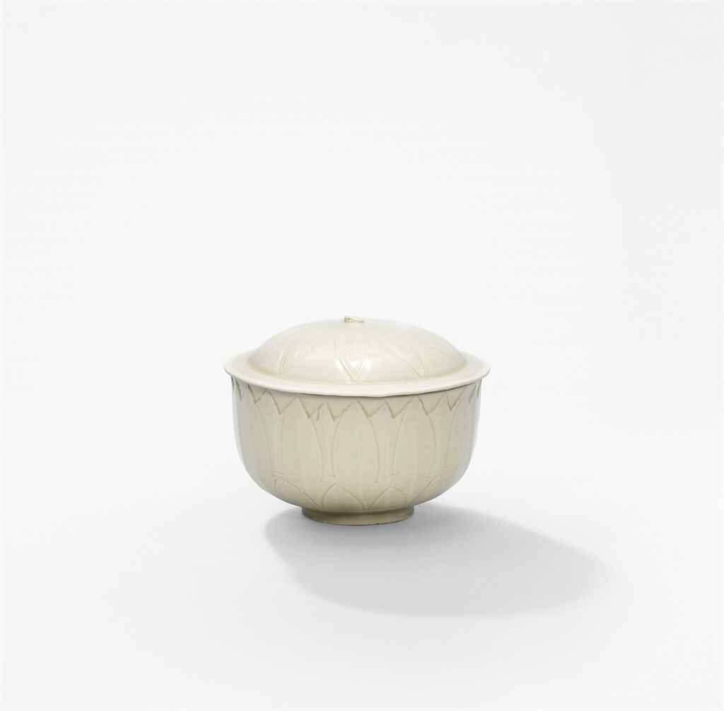 A Ding carved lotus bowl, Northern Song dynasty (960-1127)