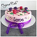 Gâteau thème floral