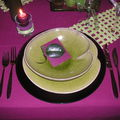 Table violette verte