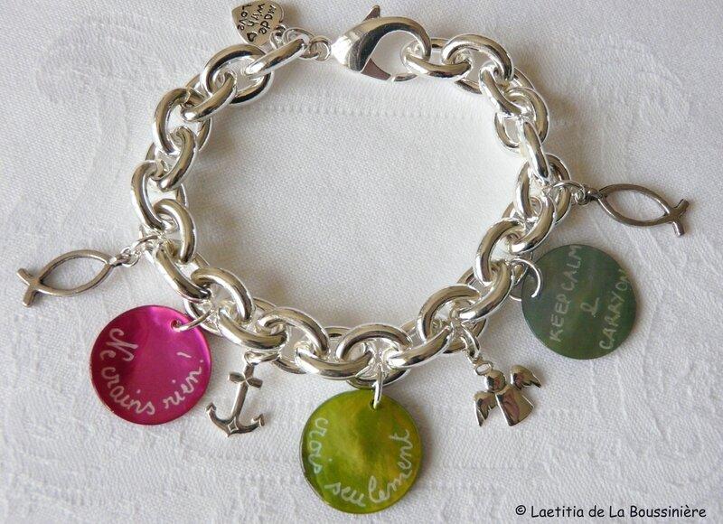 Bracelet Mots doux et breloques