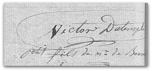 victor du Temple signature z