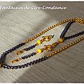 Parure BO bracelet collier Epis d'or-2