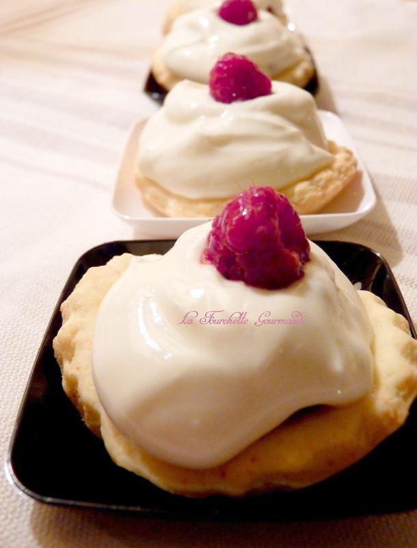 Tartelette framboise choclat blanc