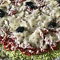 Pizza base courgette
