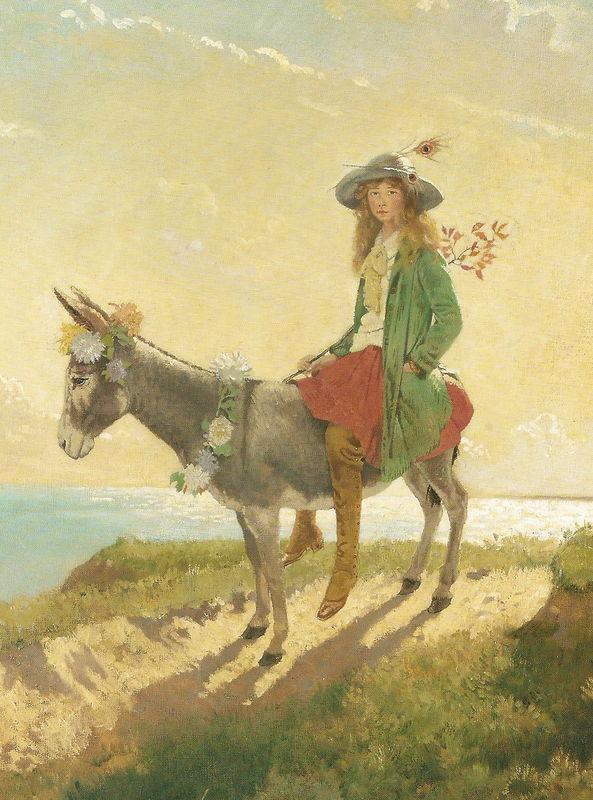 Sir William ORPEN - Gardenia St George sur un âne