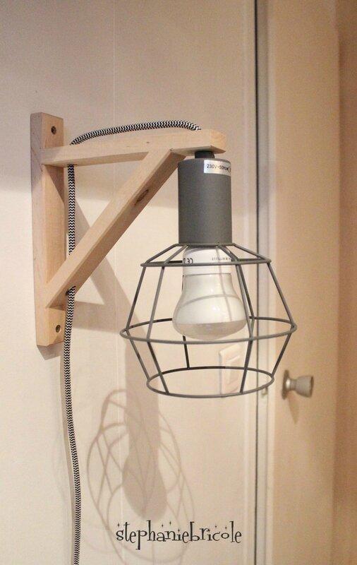 faire soi même une lampe design diy deco recup