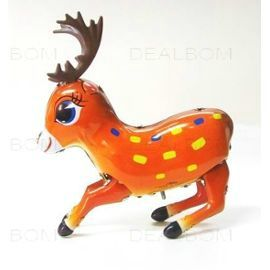 robot-tole-fer-jouet-mecanique-ancien-retro-cerf-mignon-marron-orange-920921159_ML