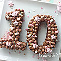 ▼▲ happy 10 ▼▲ number cake moelleux et décos▼▲ birthday licorne girly