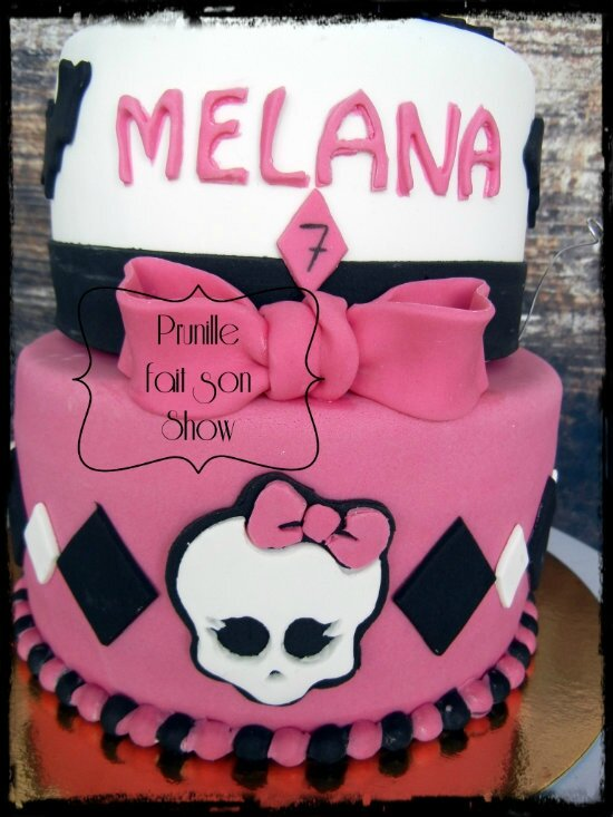 gateau monster high caty chat prunillefee 3