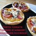 Tarte délicieuse à la tomate