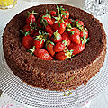 Basboussa chocolat fraises ramadan 2017