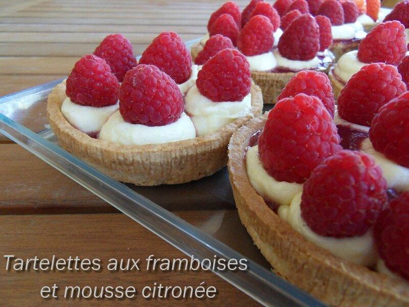 Tartelettes framboises et mousse citronée1