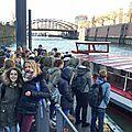 12 - J1-Hambourg-Le groupe s'apprêtant à prendre la bateau pour la visite du port de Hambourg