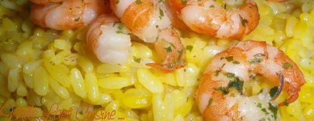Risotto aux crevettes et safran 2