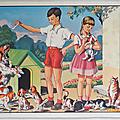 Collection ... affiche chien chat / au zoo