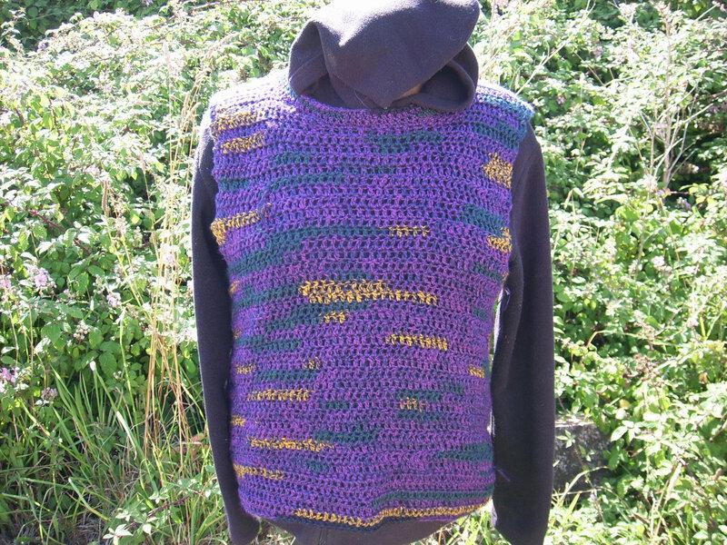 Le Pérou Tricot Veste ronces Violet Taille 80*86 Ferme Animaux Pérou Moelleux Chaud