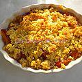 Crumble aux abricots, amandes et calissons