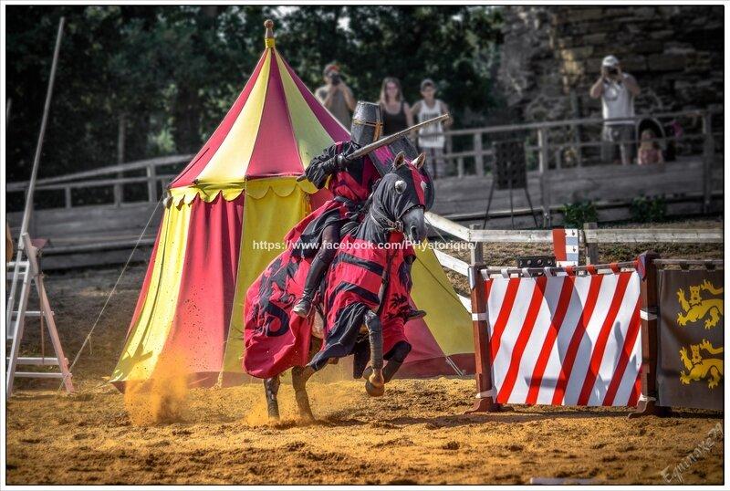 Les chevaliers de Richard Cœur de Lion reviennent de Croisade au Château de Talmont (Médiévales en Vendée) compagnie capalle (17)