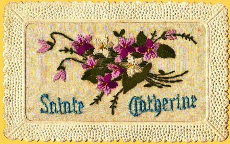 CPA Sainte-Catherine brodée ND