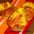 Muffins poulet / curry / cacahuètes